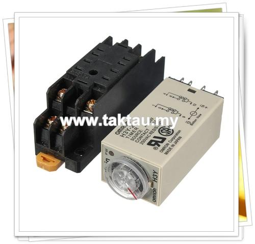 Delay timer price harga in malaysia lelong dc 12v ac 240v h3y 2 power on time relay delay timer dpdt base publicscrutiny Choice Image