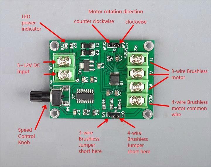 DC 5~12V Brushless motor controller driver Harddisk motor driver. ‹ ›