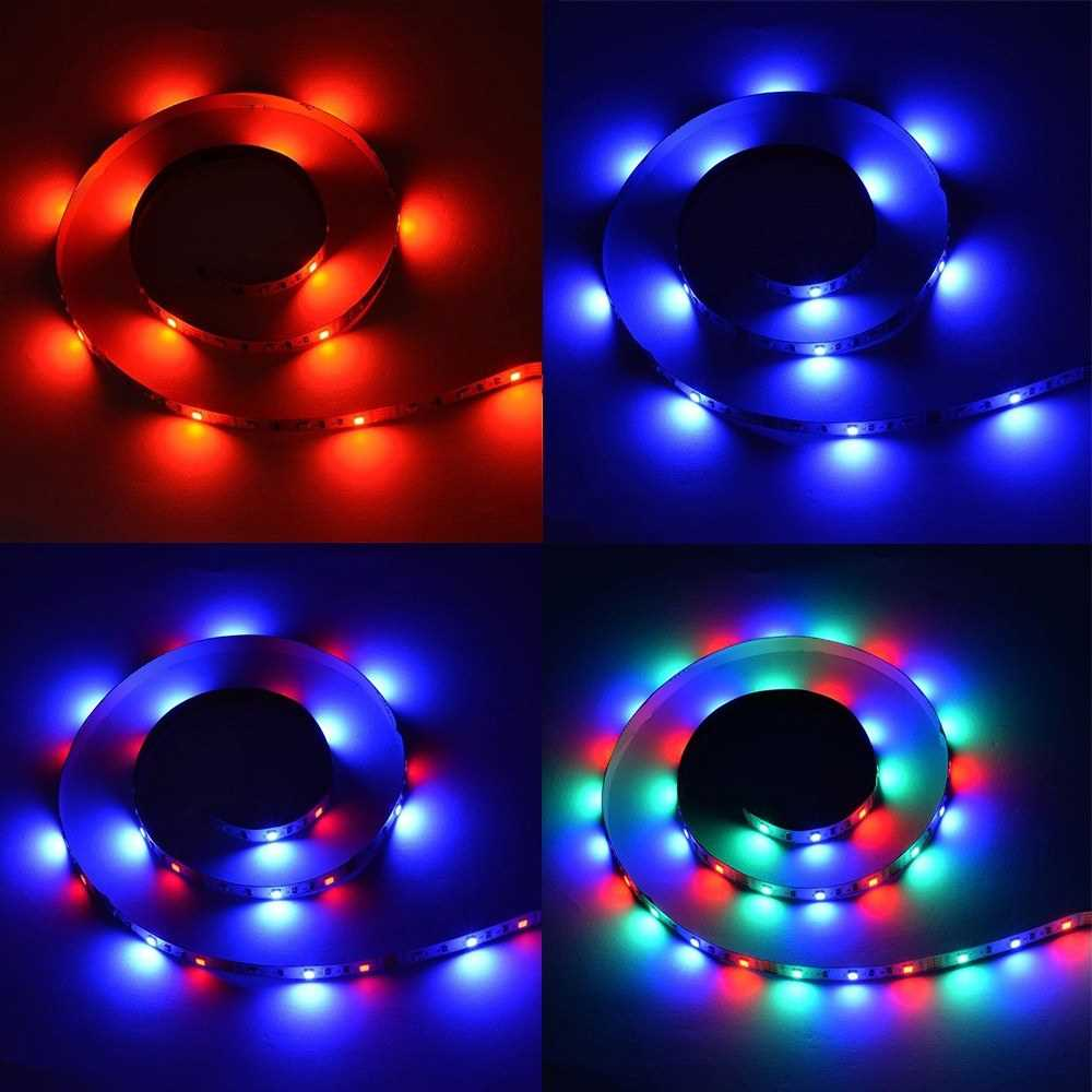 DC5V 18W 3 Meters 180 LEDs RGB Strip Light with Remote Control (4)