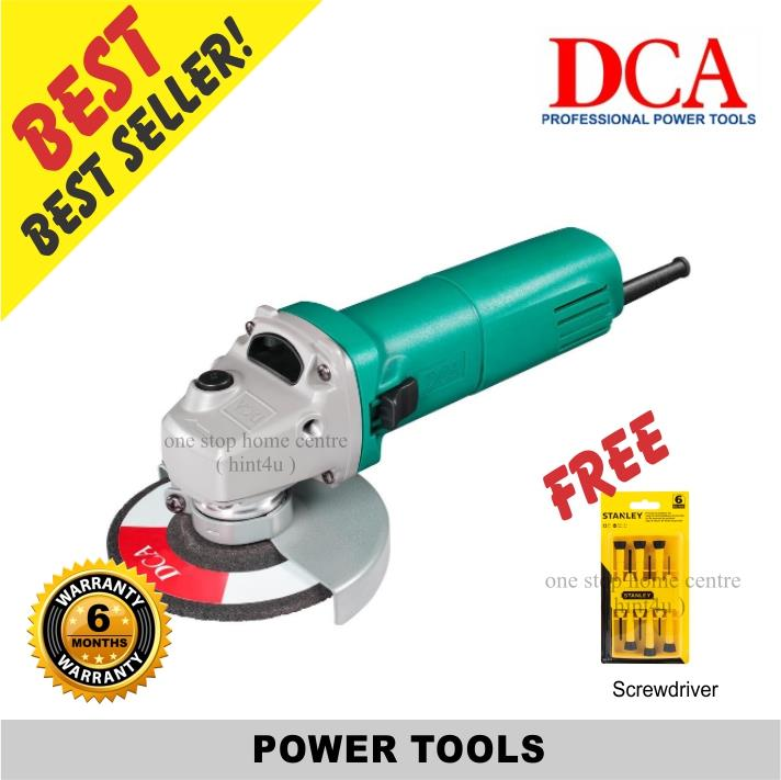 DCA ASM 10-100S/S1M-FF10-100S 4' Angle Grinder (Speed Adjust)