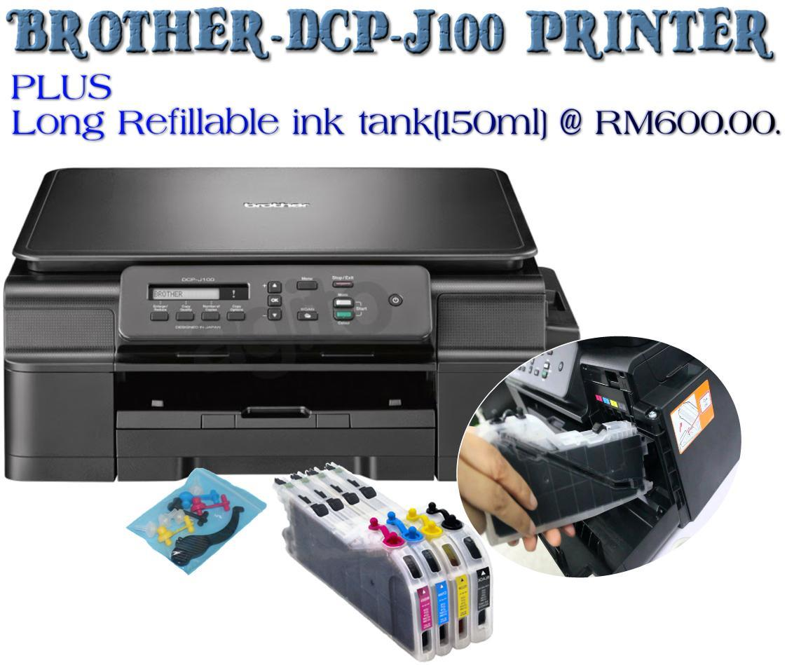 2018-Brother DCP-J100 InkBenefit ( 3 in 1 ) printer….. PLUS Long Refillable ink tank