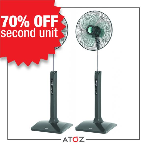 [DEAL] 2 units x Mistral MSF-1605ML Stand Fan with LCD Display