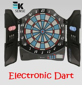 Decathlon Electronic Dartboard Dart Set GEOLOGIC (w 6 darts)