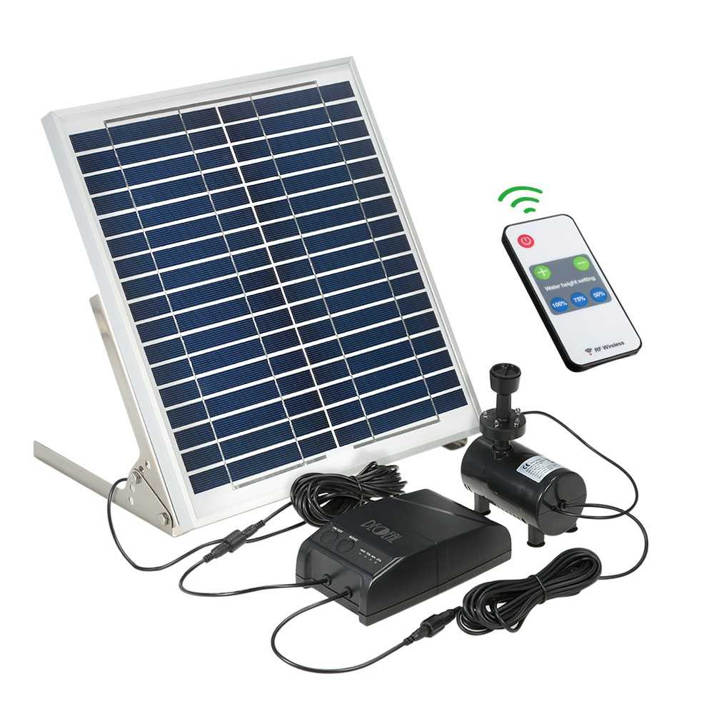 Decdeal Multi-functional Solar Power Fountain 15W Solar Panel + 3 6W  Brushless