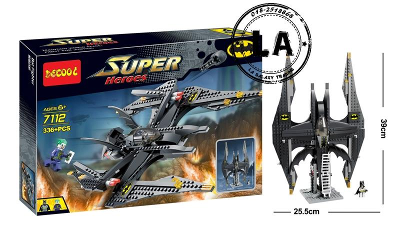 Decool 7112 Batman & Joker Batwing building Block