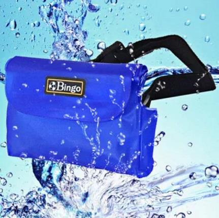 Deep Blue Bingo Polyvinylchlorid Waterproof Waist Bag for Camera Phone