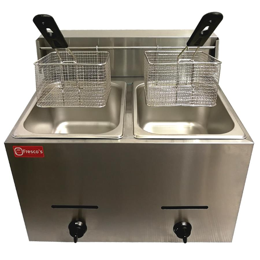 Deep Fryer Gas Double Tank