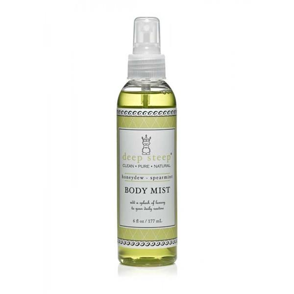 Deep Steep, ORGANIC Body Mist, Honeydew - Spearmint, (177 ml)