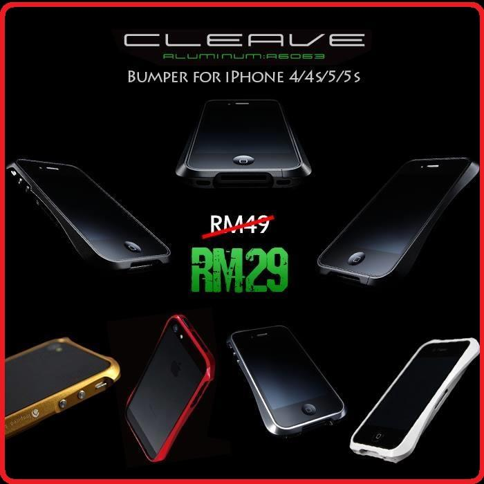 the latest 61702 bf07d Deff Cleave Aluminium Bumper for iPhone 4 / 4S / 5 / 5S Metal Bumper