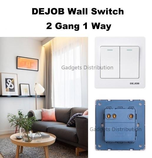 DEJOB Wall 2 Gang 1 Way Socket Two Gang One Way Switch 2390.1