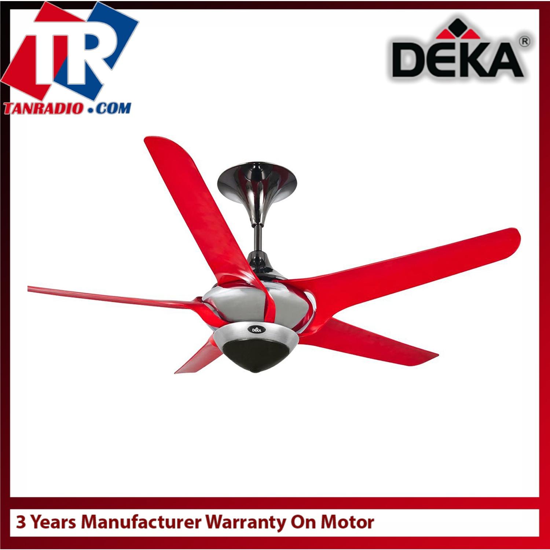 Deka 56 ceiling fan fera5 red 3 years warranty on motor