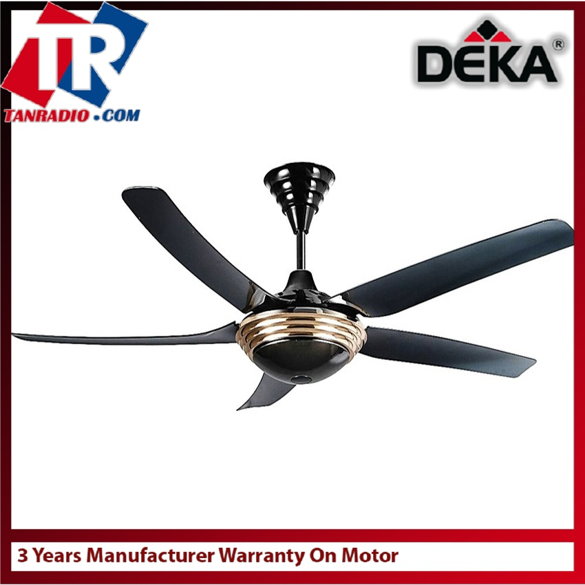 Deka Ceiling Fan 56 Inch Blades Gold Remote Control With Surge Protector Vr5 5