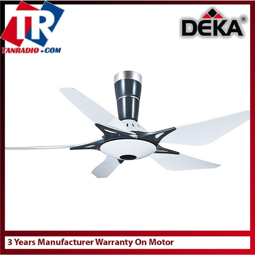 Deka dk118 5 blades white 56 remot end 6242019 1046 am deka dk118 5 blades white 56 remote control ceiling fan with cooling reverse aloadofball Gallery
