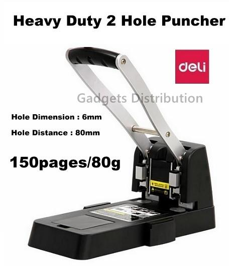 DELI 0150 Heavy Duty Hole Paper Punch Puncher 150pages/80g 6mm 2413.1