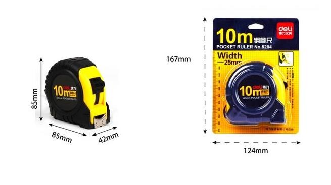 Deli 8204-10M 10 Meter Measuring Tape Heavy Duty