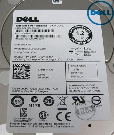 Dell 1.2TB 10K RPM 6Gbps SAS 2.5; HDD Hard Drive ST1200MM0007 0RMCP3