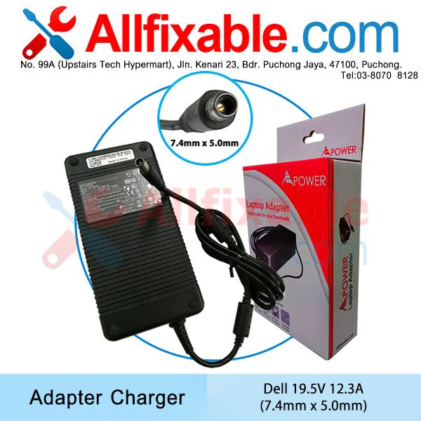 Dell 19.5V 12.3A Alienware 15 R2 17 R3 R4 GTX 770 P43F Adapter Charger