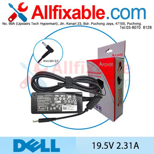 Dell 19.5V 2.31A XPS L321X L322X P29G Series Adapter Charger