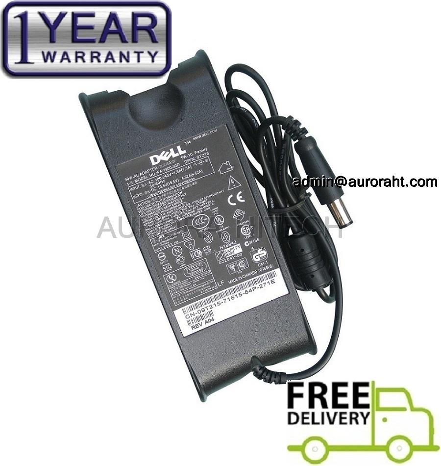 Dell 19.5V 4.62A 90W 7.4mm * 5.0mm (Pin Inside) AC Adapter Laptop Char