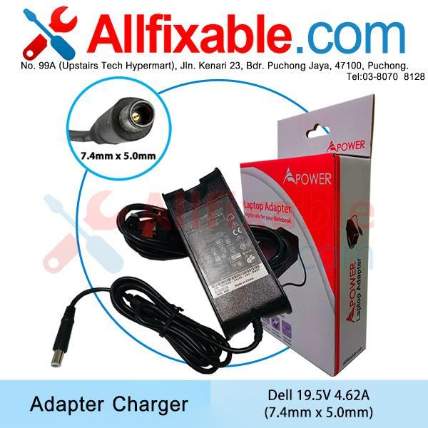 Dell 19.5V 4.62A Inspiron 15R, 15R-5521, 15R 7520 Adapter Charger