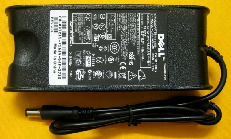 Dell 19.5V 4.62A Notebook Laptop Power Adapter Charger