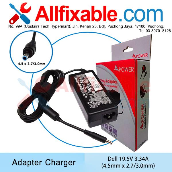 Dell 19.5v3.34a XPS 13-0925SLV 4002SLV 4040SLV 6928SLV Adapter Charger