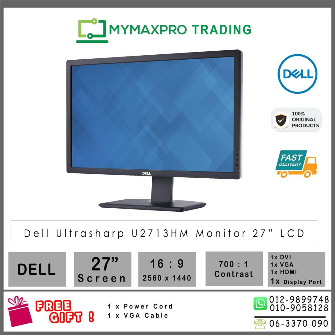 DELL 27' UltraSharp LED Monitor U2713HMt replace U2713HM S2740l P2714H