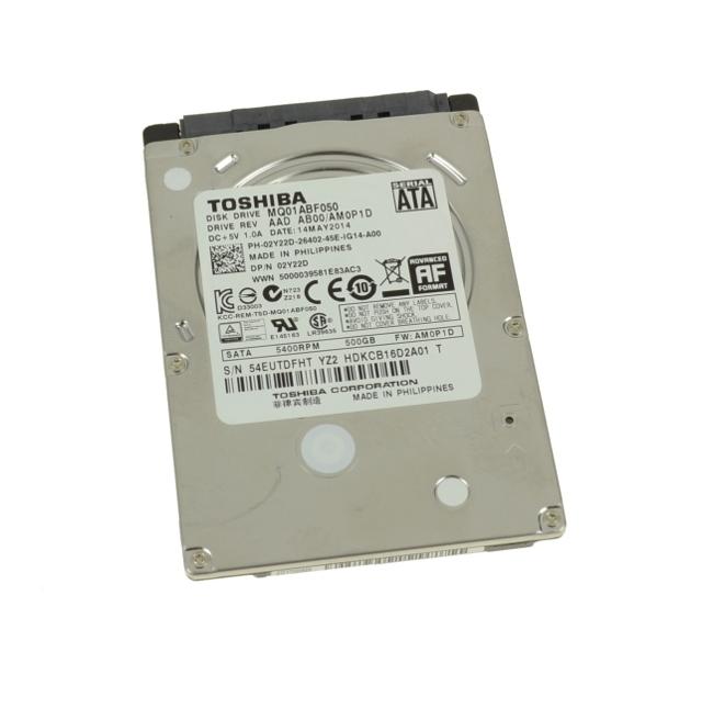 Dell 2Y22D 02Y22D MQ01ABF050 Toshiba 500 Gb 5 4 k Rpm 8mb Sata