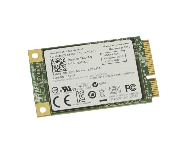 Dell 64GB MINI SATA PCI-E SOLID STATE DRIVE J4M3V LMT-64M3M