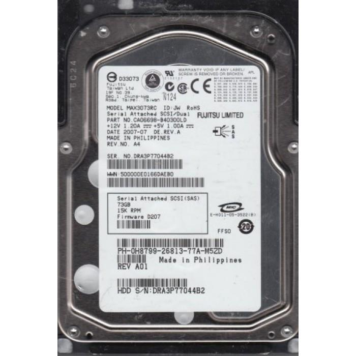 "Fujitsu 73 GB 15K 15000 RPM SP SAS 3.5/"" Hard Drive MAX3073RC"