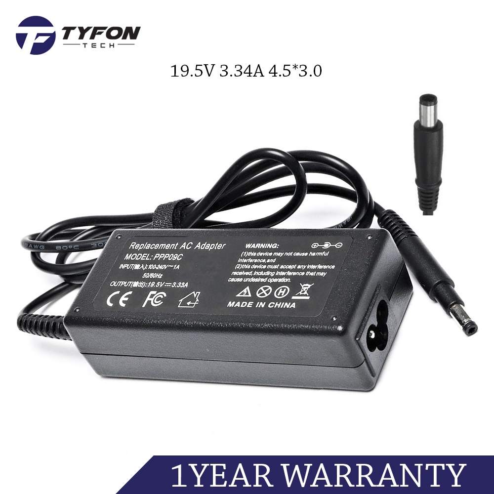 Dell Compatible Laptop AC Power Adapter 19 5V 3 34A 4 5*3 0 Charger