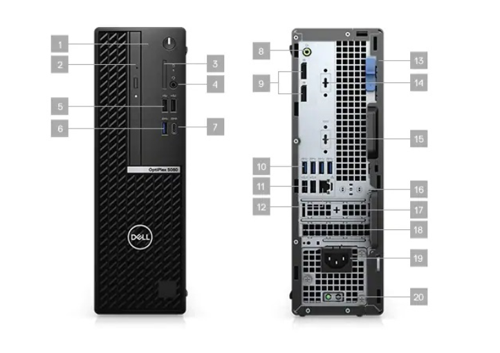 DELL EMC OptiPlex 5080 SFF i5-10500 8GB 256GB SSD W10P 3YW