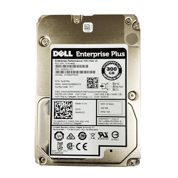"Dell Enterprise Plus 300GB 15K HDD v5 SAS 2.5"" HDD"