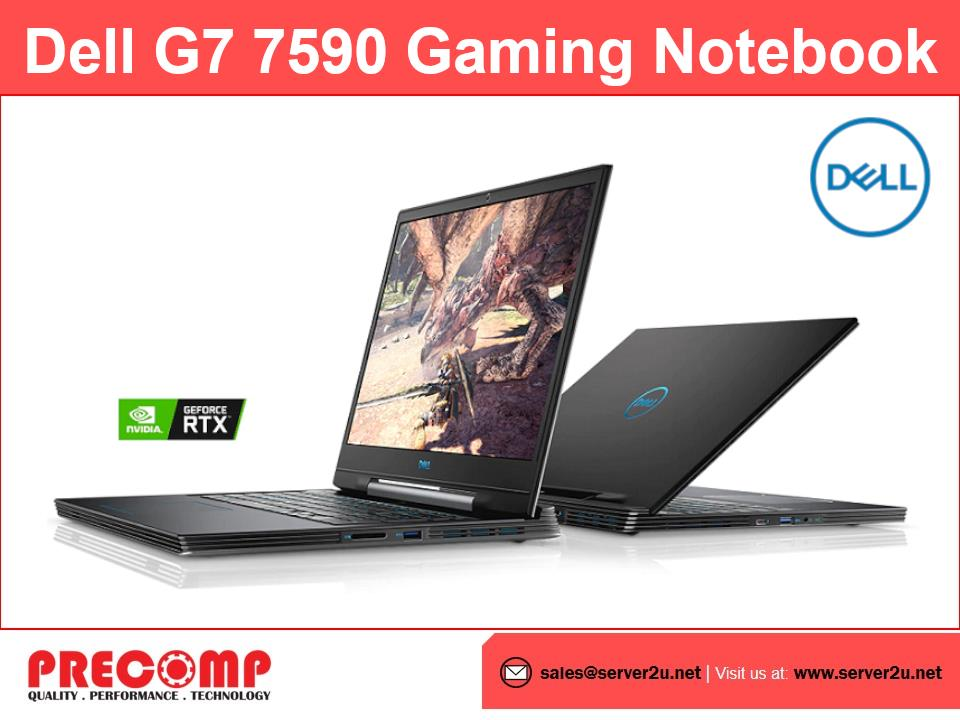 Dell G7 7590 Gaming Notebook (i7-9750H.16GB.256GB+1TB) G797116G2060SSD