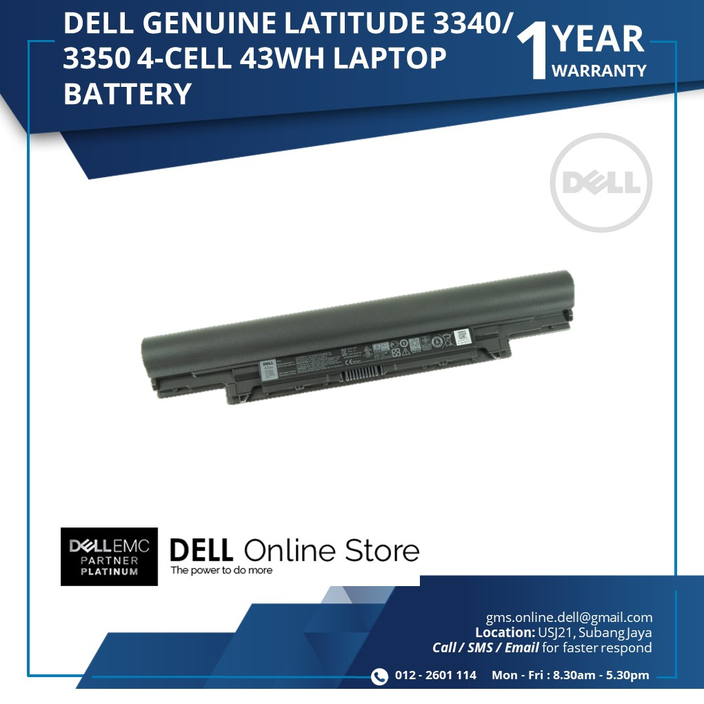 DELL GENUINE LATITUDE 3340/3350 4 CELL 43WH LAPTOP BATTERY