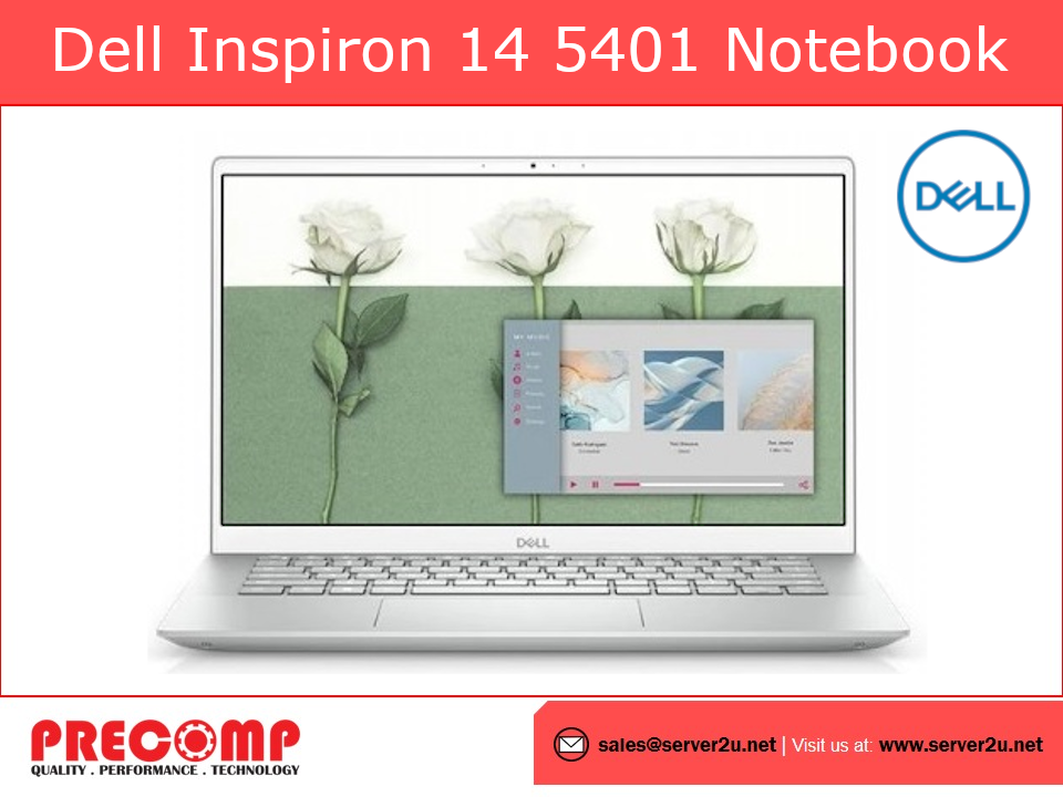 Dell Inspiron 14 5401 Notebook i7-1065G7.8GB.512GB (5401-6585MX2G-FHD)