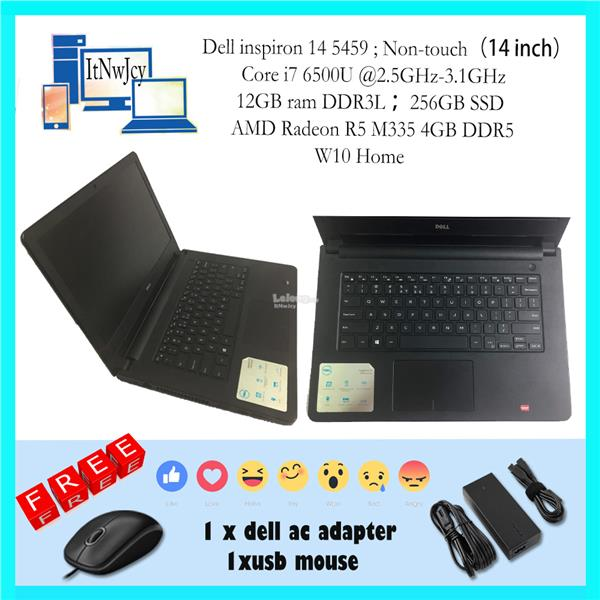 Dell inspiron 14 5459(i7 6500U@2.5GHz;12GB ram DDR3L;256GB SSD)
