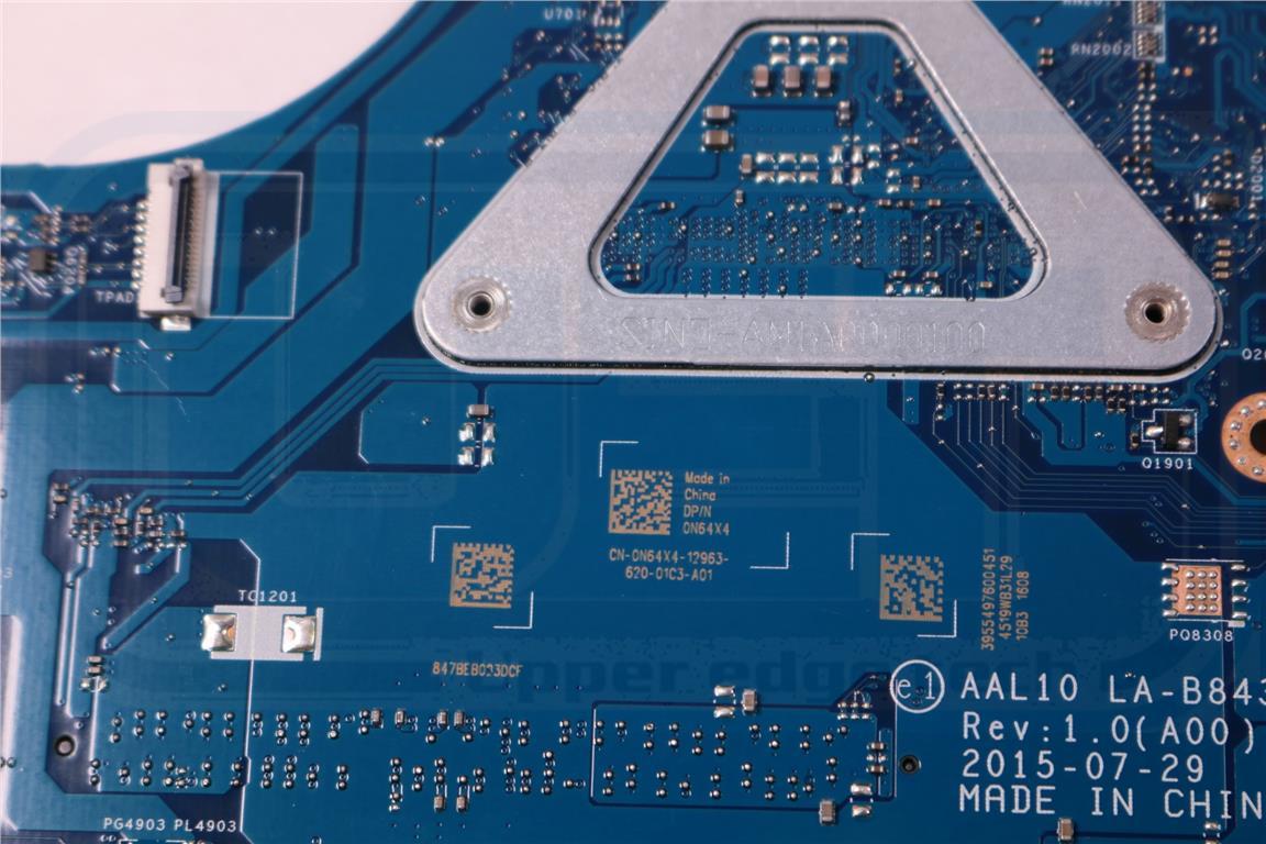 Dell Inspiron 17 5558 Laptop Motherboard w// Intel i3-5005U 2.0Ghz CPU N64X4