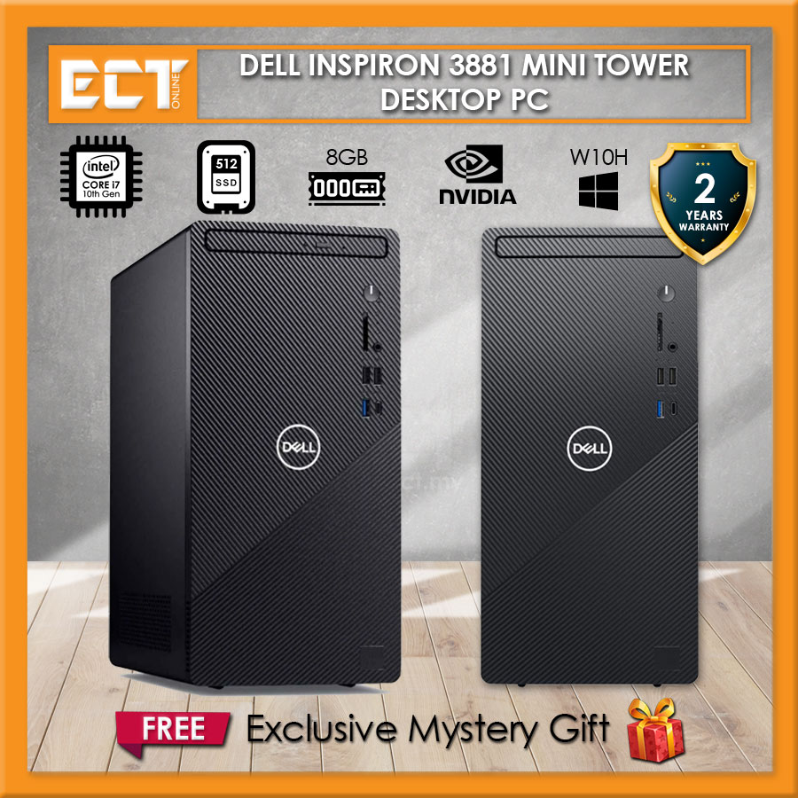 Dell Inspiron 3881 Mini Tower Desktop PC (i7-10700 4.80Ghz,512GB SSD,8GB,GT730
