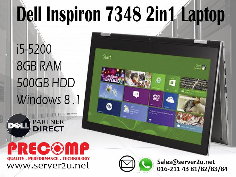 Dell Inspiron 7348 2in1 Laptop (i5-5200/8GB/500GB) (7348T. ‹ ›