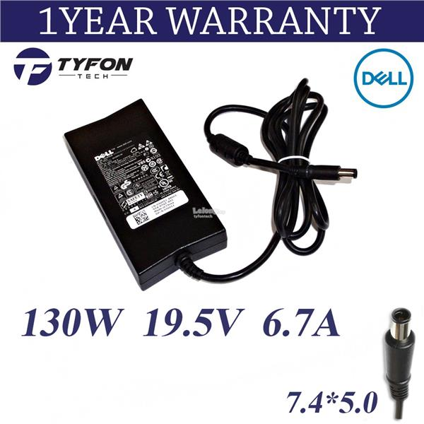 Dell Laptop AC Adapter 130W 19 5V 6 7A 5 0*7 4 Charger (Refurbished)