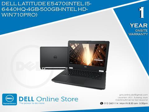 DELL LATITUDE E5470(INTEL I5-6440HQ-4GB-500GB-INTEL HD-WIN710PRO)