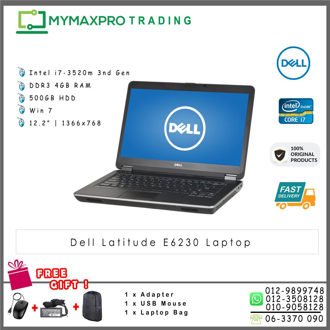 Dell Latitude E6230 i7-3520m 4GB DDR3 320GB HDD Win7Pro Laptop