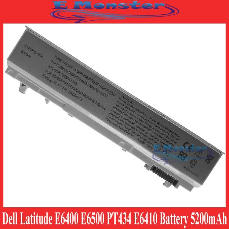 Dell Latitude E6400 E6500 PT434 MN632 E6410 E6510 Battery 5200mAh
