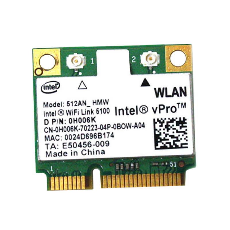 Dell Latitude E6400 Wireless LAN Card 0H006K 512AN_HMW Intel Wifi Link