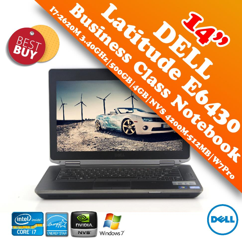 Dell Latitude E6430 Core i7-2620M Business Class Notebook Special Deal