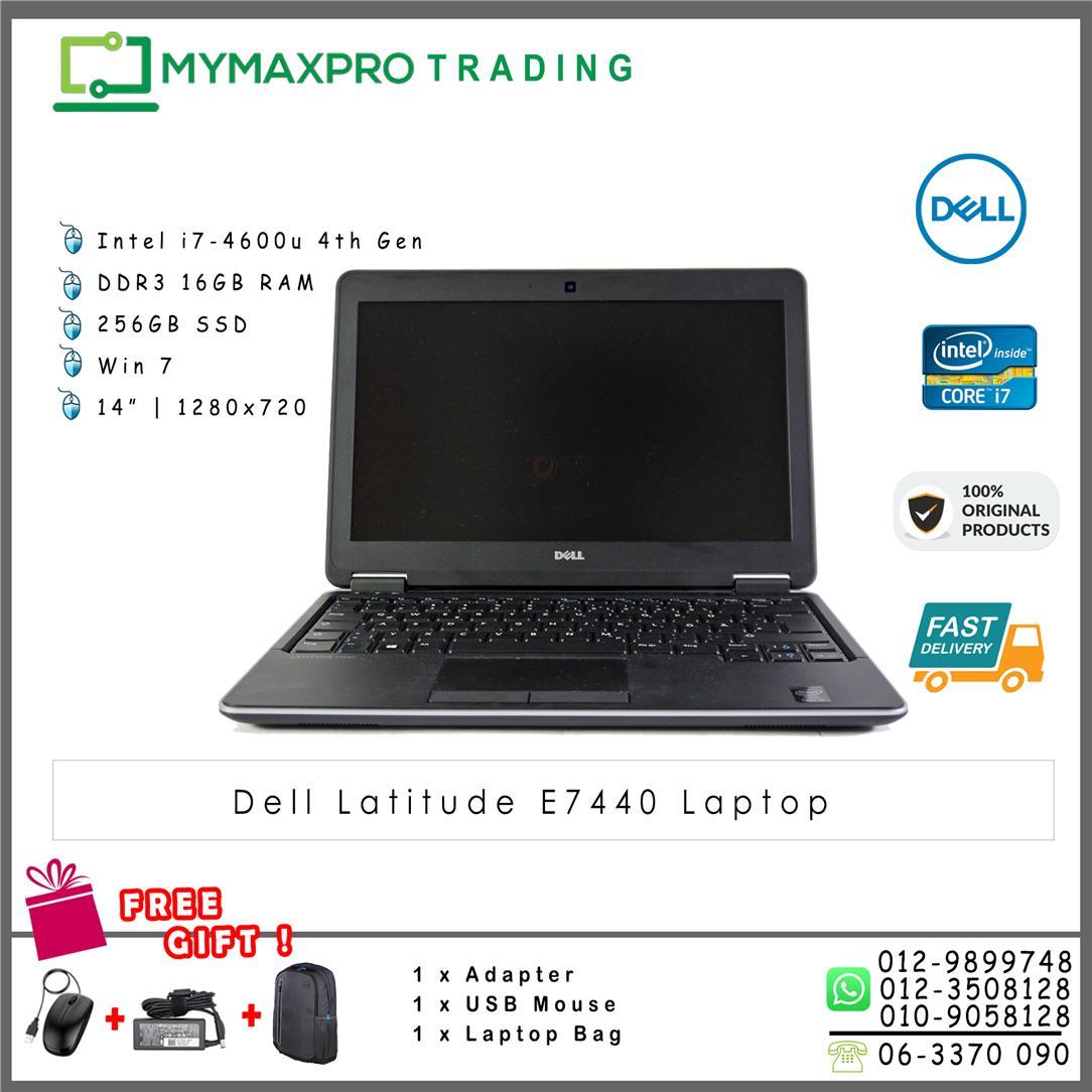 Dell Latitude E7440 Laptop Core i7-4600u 16GB 256GB HDD Win7 laptop
