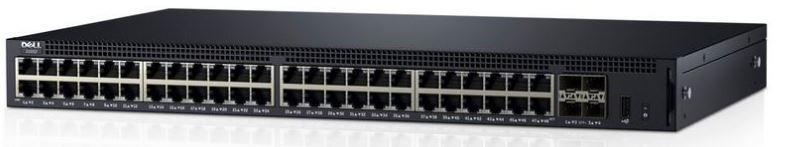 Dell Networking X1052P Smart Web Managed Switch, 24 x 1GbE PoE or 12 x