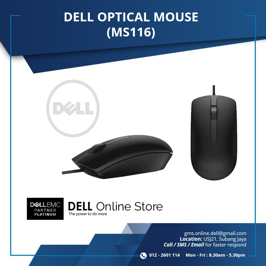 dell optical mouse ms116 end 1 8 2021 12 00 am. Black Bedroom Furniture Sets. Home Design Ideas