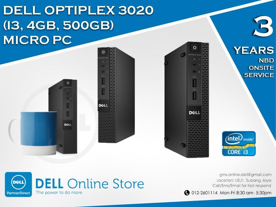 dell optiplex micro pc i34gb500gb desktop